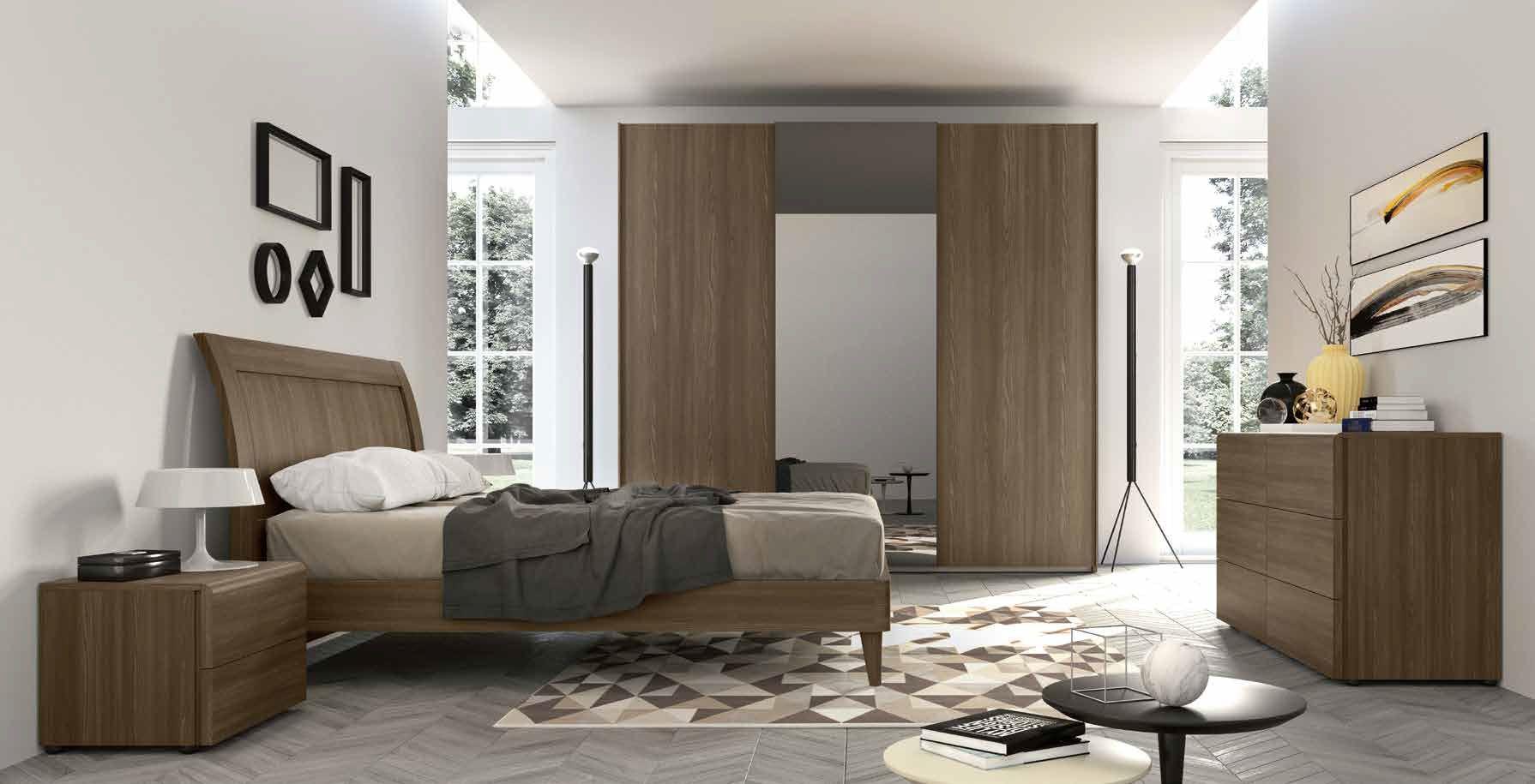 camera da letto moderna comò armadio comodino