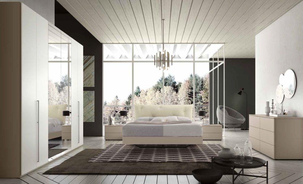 camera da letto moderna color visone nobilitato arredamenti divani torino