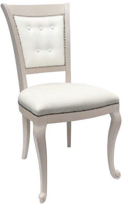 sedia con cuscino e schienale bianchi arredamenti divani torino