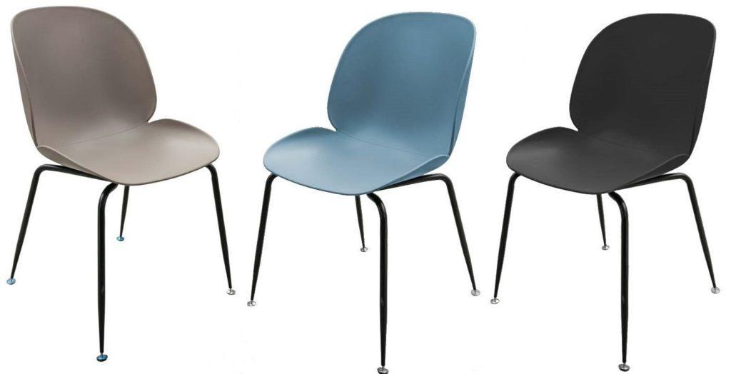sedia resina gambe ferro arredamenti divani torino