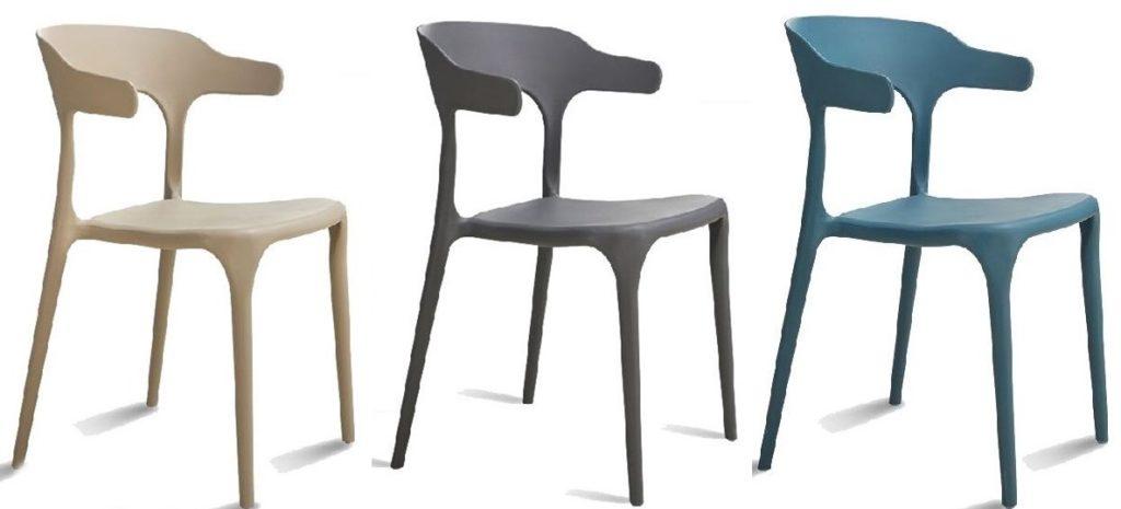 sedie resina con schienale 3 colori arredamenti divani torino