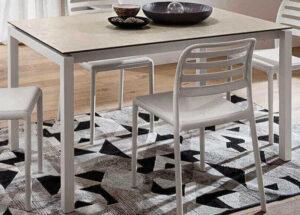 Tavolo allungabile moderno struttura metallo laccato arredamenti divani torino