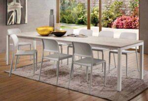 tavolo allungabile piano rovere antico arredamenti divani torino