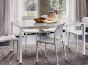 tavolo moderno allungabile piano vetro arredamenti divani torino