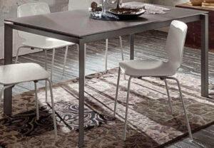 tavolo allungabile metallo laccato arredamenti divani torino