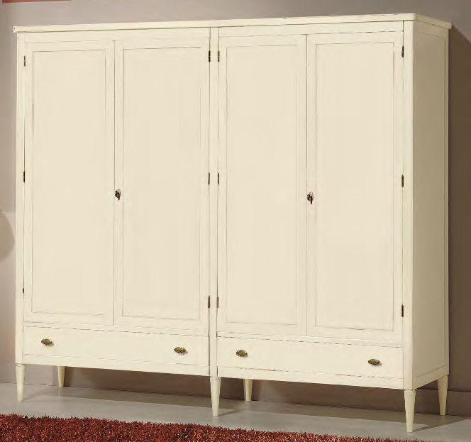 armadio 4 ante 2 cassetti bianco arredamenti divani torino
