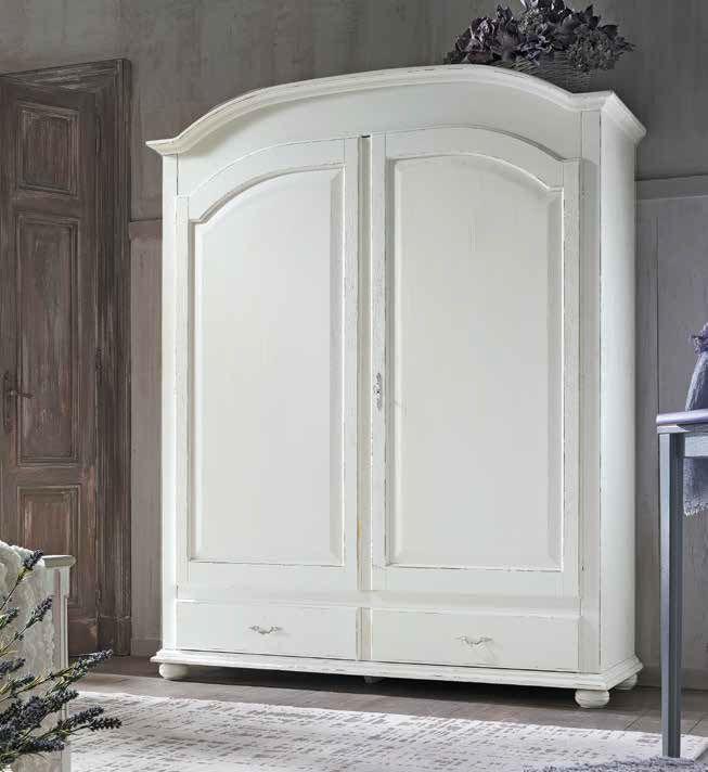 armadio con cassettiera bianco