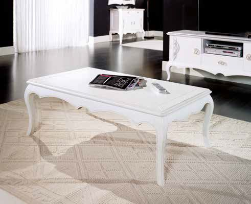 tavolino rettangolare bianco