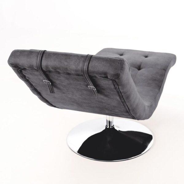 poltrona chaise longue grigia dettaglio cinghia mobilificio torino e rivoli