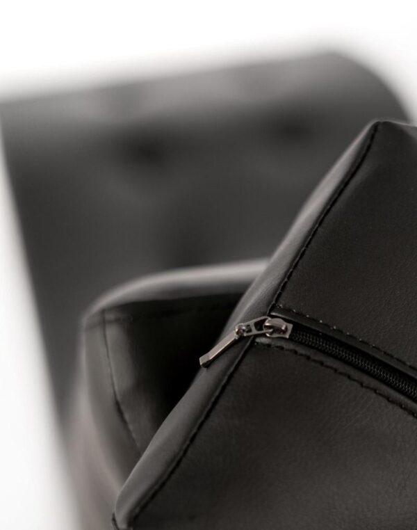 poltrona chaise longue nera dettaglio cerniera mobilificio torino e rivoli