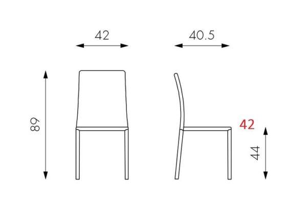 scheda tecnica sedia sissy mobilificio torino e rivoli