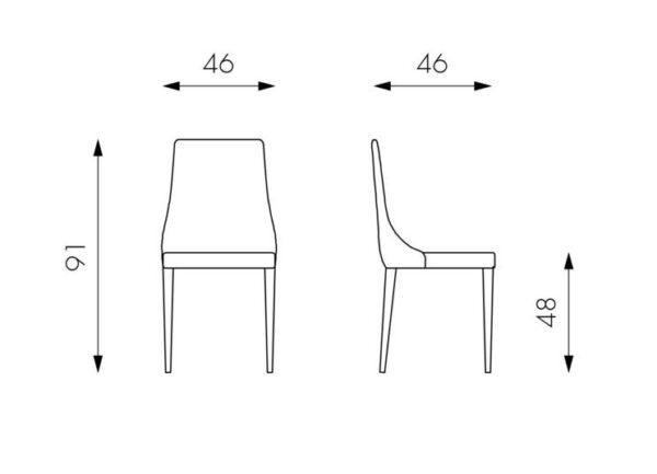 scheda sedia myriam mobilificio torino e rivoli