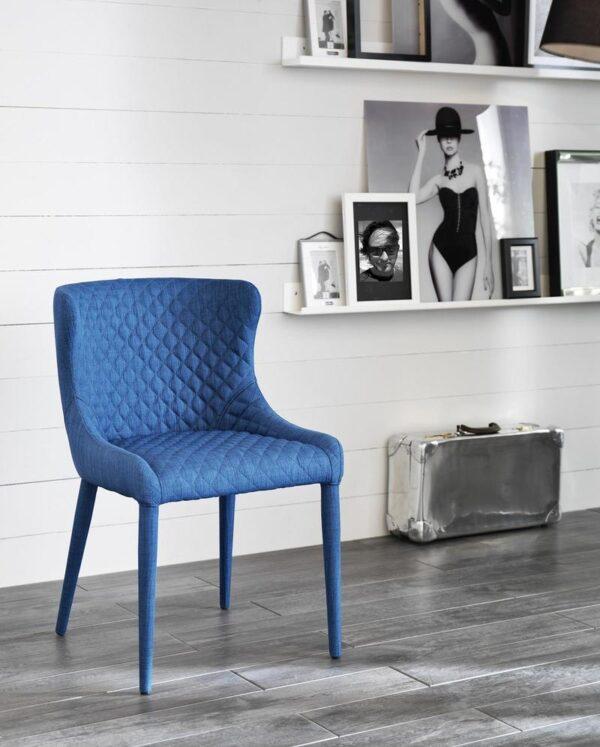 sedia afrodite blu mobilificio torino e rivoli