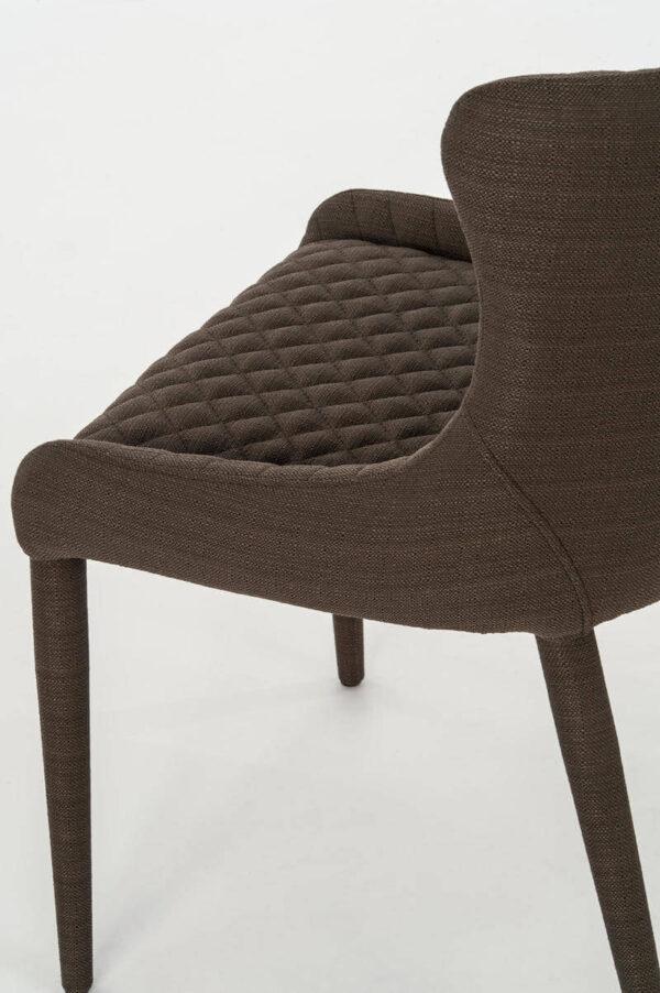 dettaglio sedia afrodite marrone mobilificio torino e rivoli