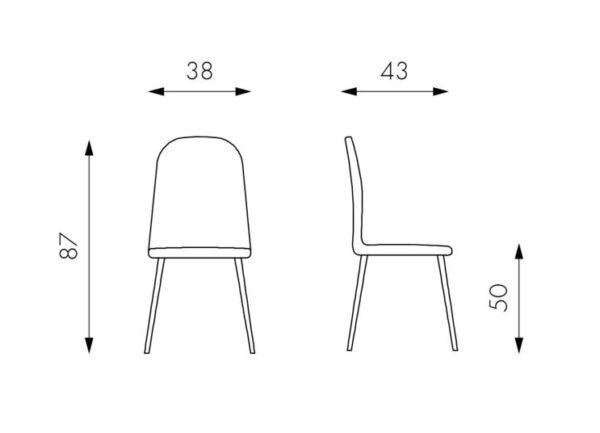scheda sedia luna mobilificio torino e rivoli