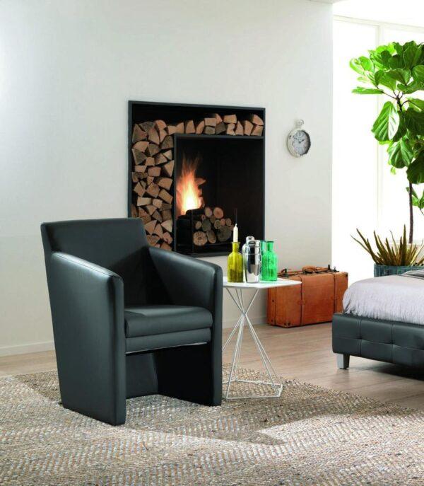 poltrona paola nera mobilificio torino e rivoli