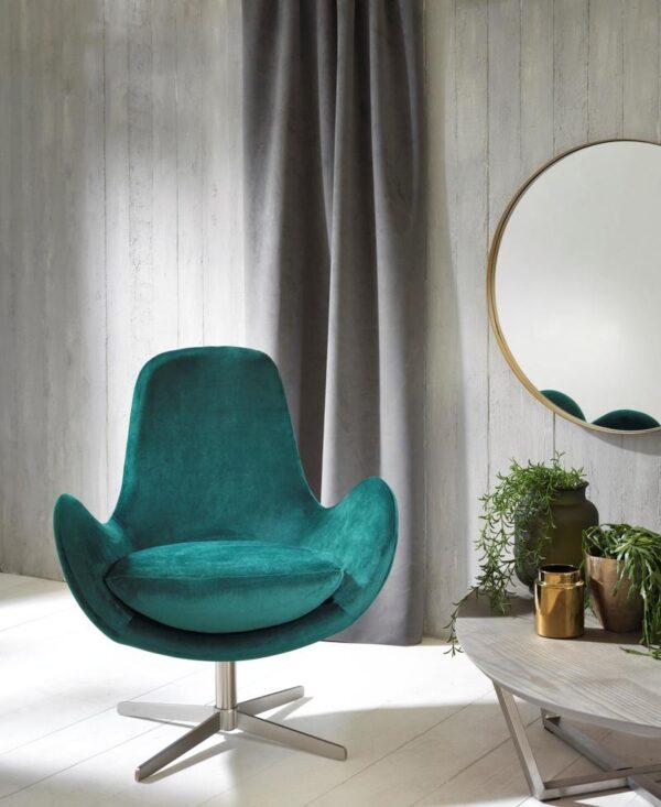 poltrona olga verde sfondo mobilificio torino e rivoli