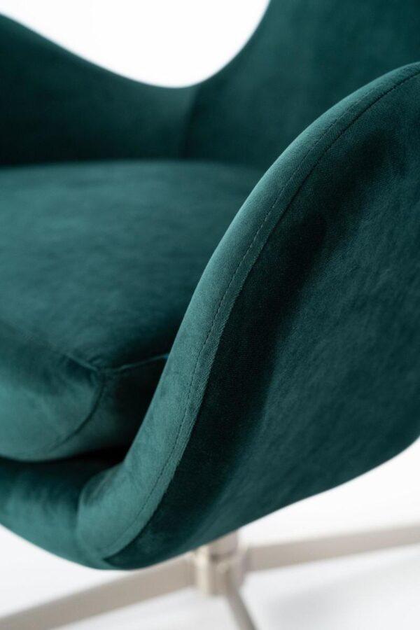 poltrona olga verde dettaglio mobilificio torino e rivoli