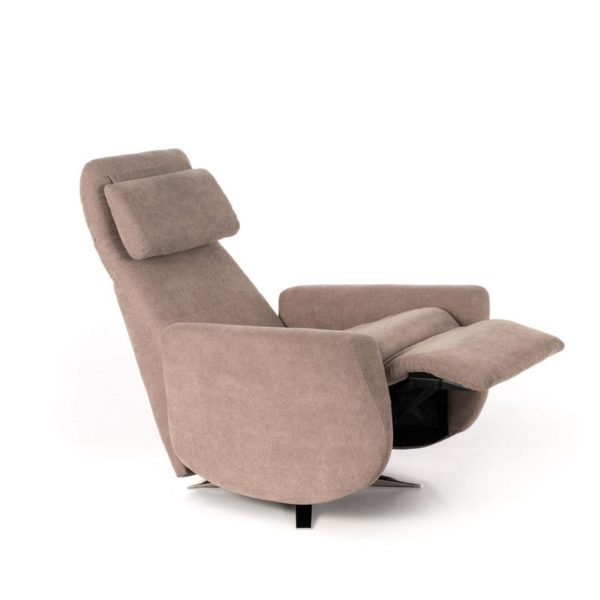 poltrona z004 grigio chiaro parzialmente inclinata mobilificio torino