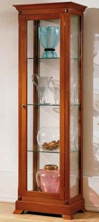vetrina 1 porta 3 ripiani vetro mobilificio torino e rivoli