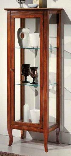 vetrinetta 2 ripiani in vetro schiemnale tappezzato mobilificio torino e rivoli