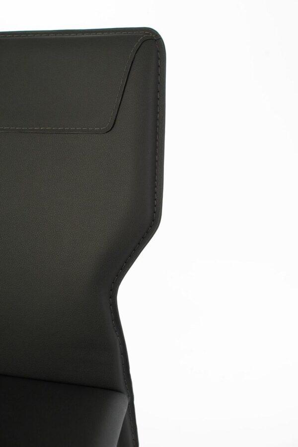 dettaglio sedia kim grigio scuro mobilificio torino e rivoli