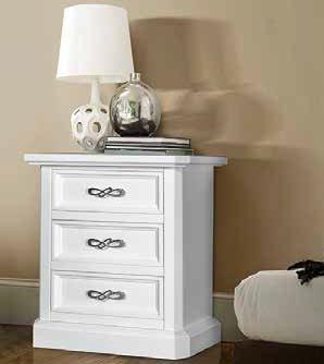 comodino bianco 3 cassetti mobilificio torino e rivoli