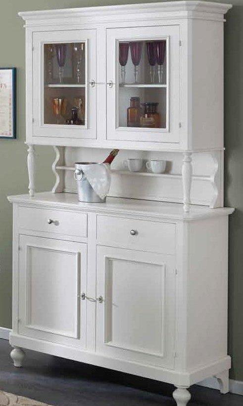 cristalliera credenza bianca con alzata mobilificio torino e rivoli