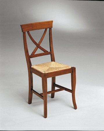 sedia con schienale ad x mobilificio torino e rivoli