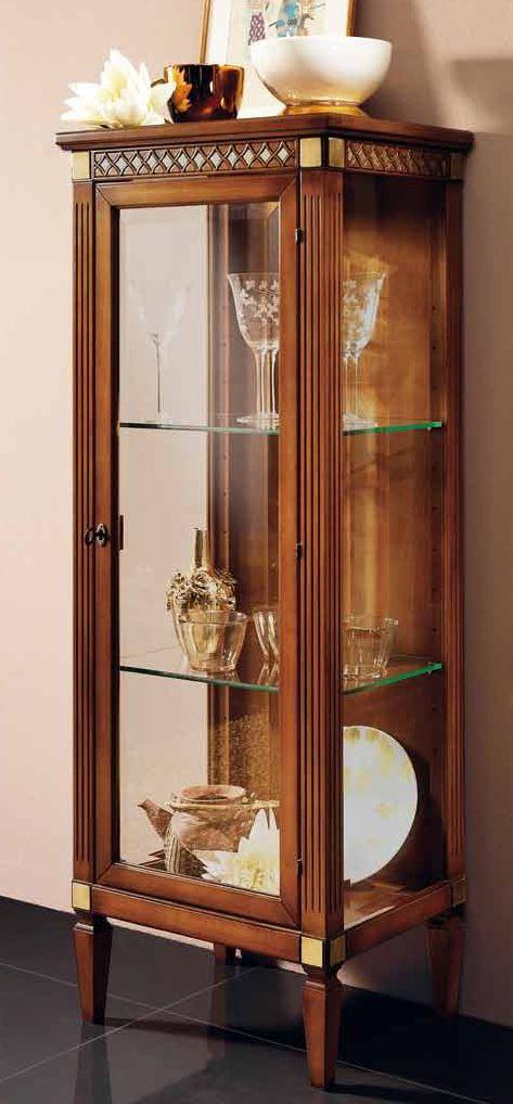 vetrina 1 porta 2 ripiani mobilificio torino e rivoli