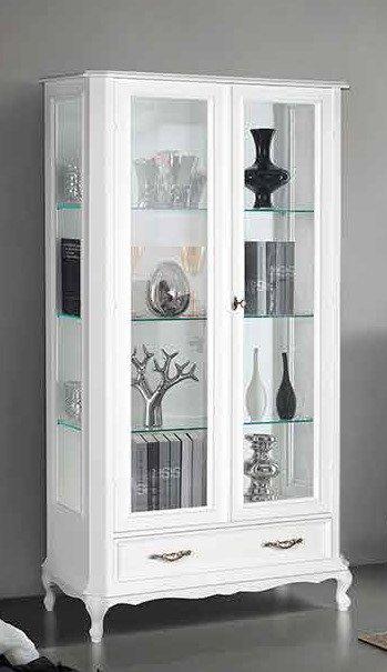 vetrina lata 2 porte bianca mobilificio torino e rivoli