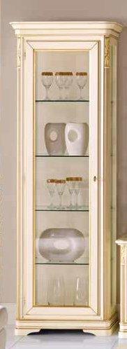 vetrina avorio patinato 1 porta apertura a sx mobilificio torino e rivoli