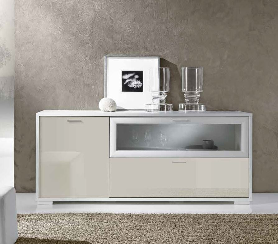 credenza color perla e bianco moderna mobilificio Torino e Rivoli
