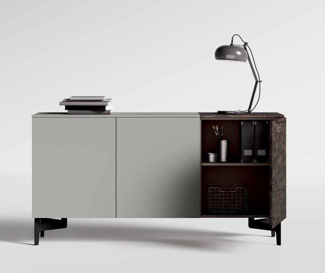 madia moderna volo grigio e legno mobilificio torino e rivoli