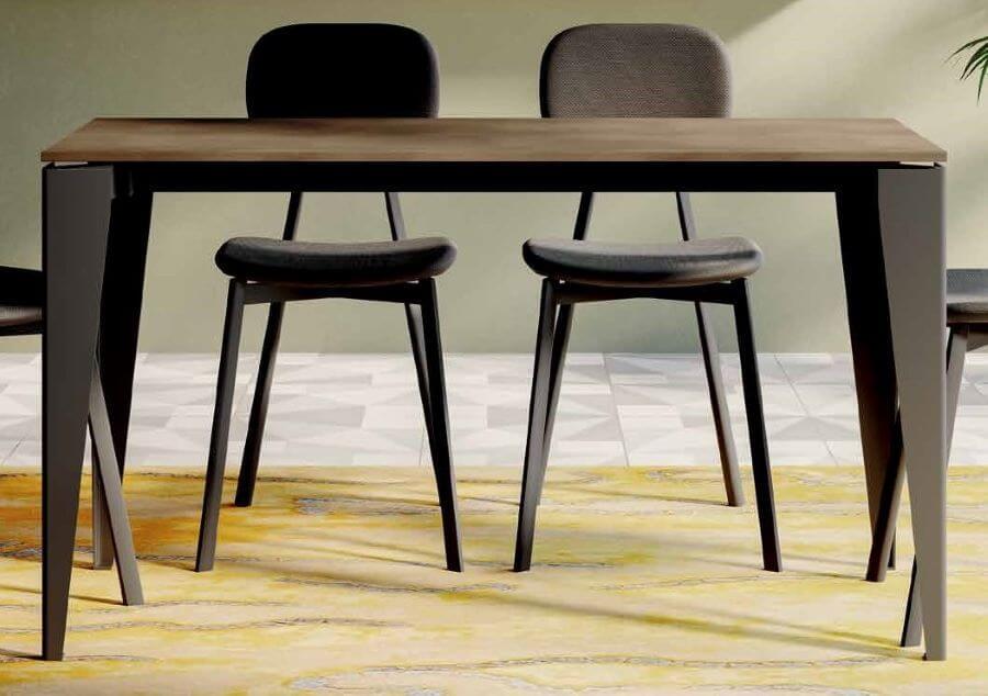 Tavolo color ossido rame mobilificio torino e rivoli