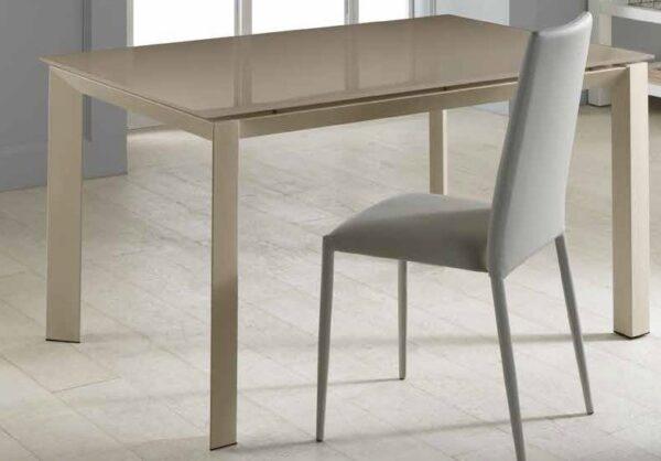 tavolo allungabile moderno color cappuccino mobilificio torino e rivoli