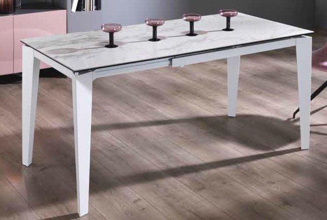 tavolo allungabile marmo bianco mobilificio torino e rivoli