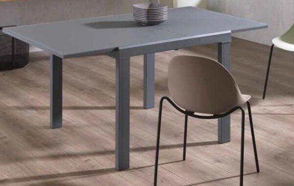 tavolo top e gambe grigio vetro e metallo mobilificio torino e rivoli