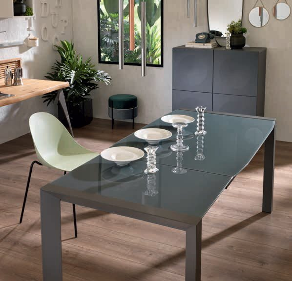 tavolo metalo e vetro piccolo mobilificio torino e rivoli