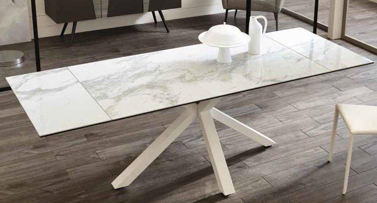 tavolo ceramica color marmo bianco mobilificio torino e rivoli