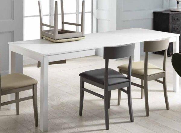 tavolo allungabile bianco in legno mobilificio torino e rivoli