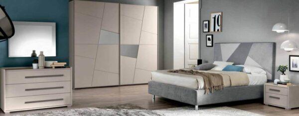 camera con armadio letto e comodino mobilificio torino e rivoli