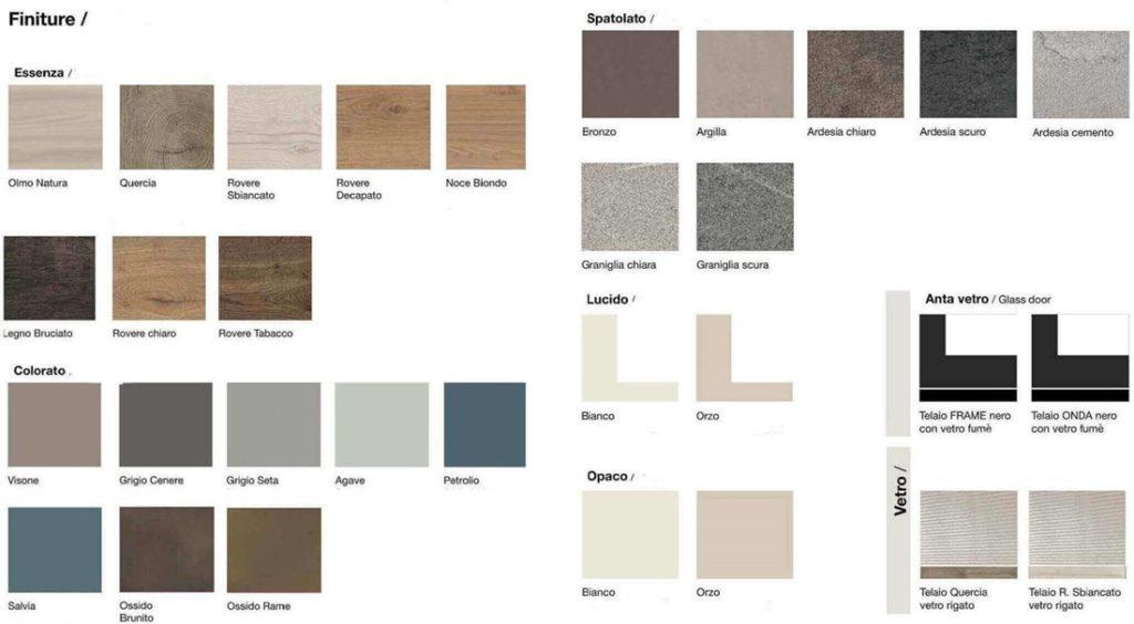 Colori soggiorni serie QSM mobilificio torino e rivoli