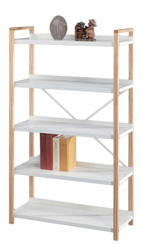 libreria bicolore bianco e naturale mobilificio torino e rivoli