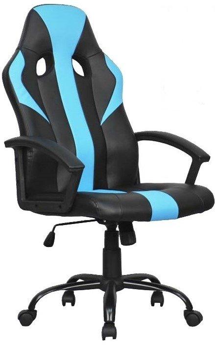 poltrona da ufficio bicolore in similpelle e nylon con ruote mobilificio torino e rivoli