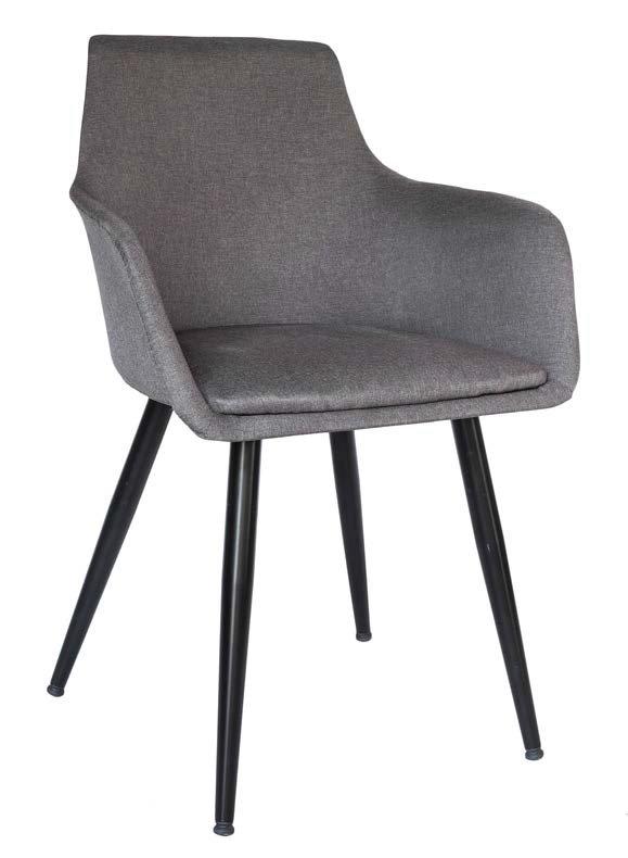 sedia tessuto grigio gambe nere mobilificio torino e rivoli