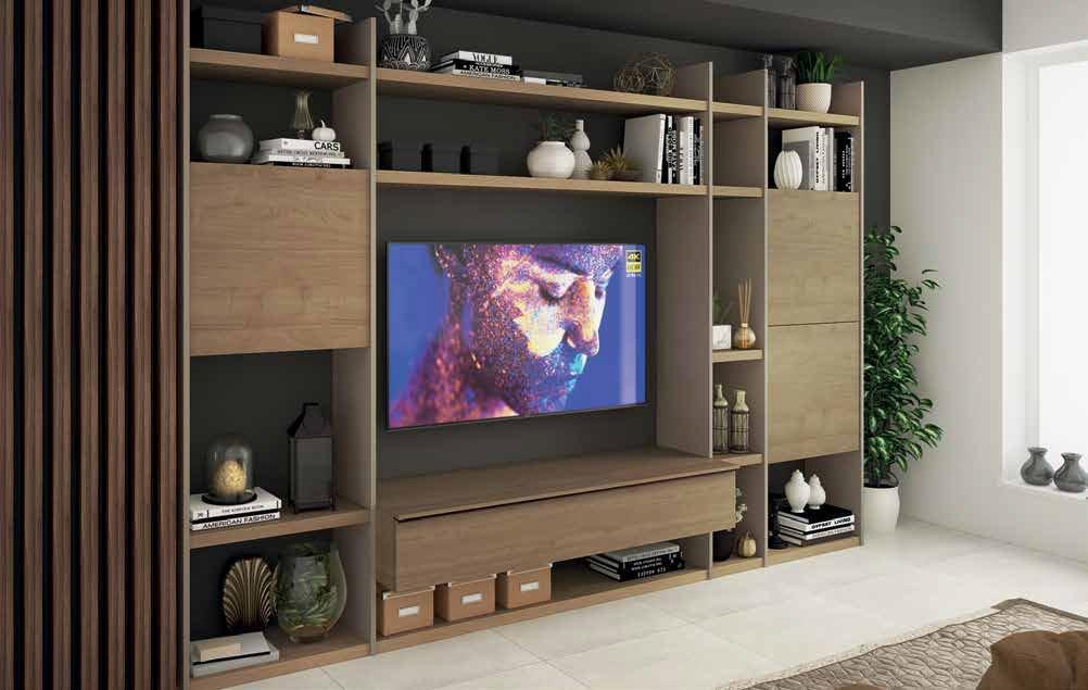soggiorno color Argilla, Noce biondo mobilificio torino e rivoli
