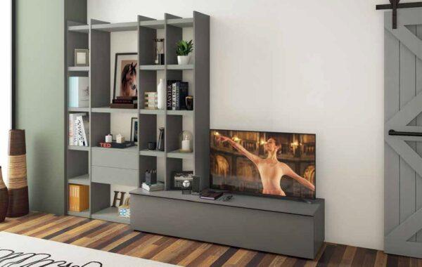 soggiorno color Grigio cenere, Graniglia chiara mobilificio torino e rivoli
