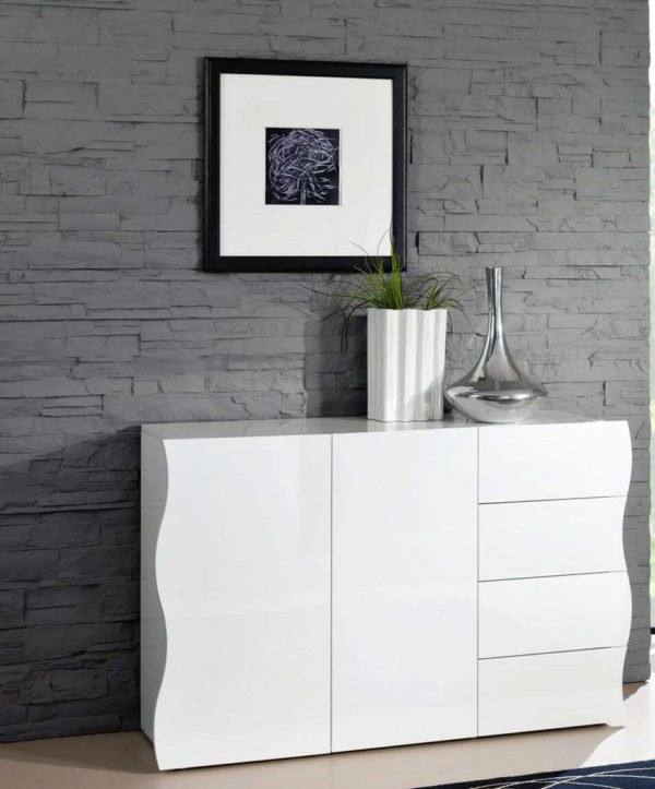 madia sagomata bianca mobilificio torino e rivoli