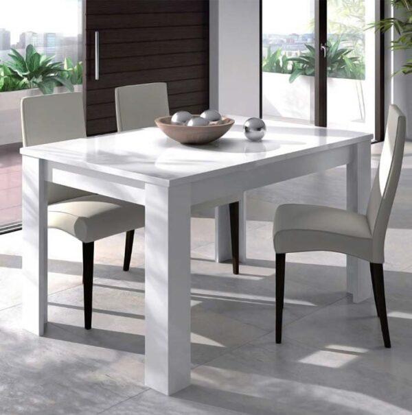 Tavolo allungabile bianco lucido mobilificio torino e rivoli